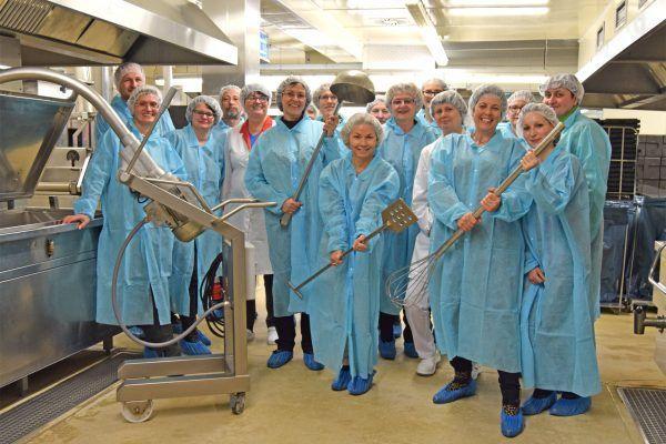 Verband deutscher Unternehmerinnen zu Gast bei ALEXMENÜ, Besuch der Produktion