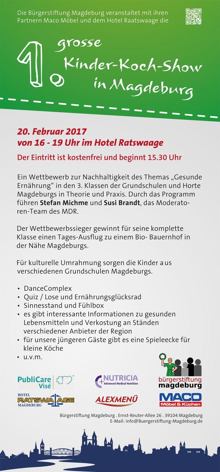 Flyer Rückseite 1. Kinder-Koch-Show Magdeburg