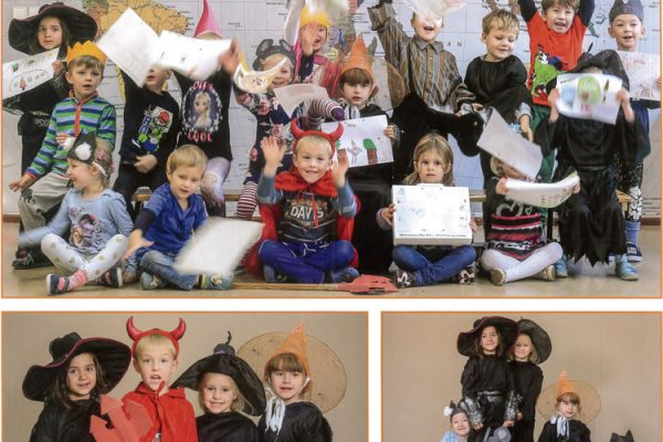 """Die Kinder der Kita """"Königsborn"""" zeigenihre Kunstwerke."""