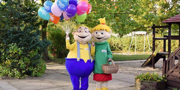 Hopsi und Klopsi freuen sich auf die Kinder