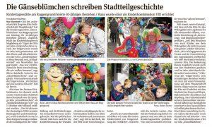 Beitrag Volksstimme - Gänseblümchen-30ter-Geburtstag
