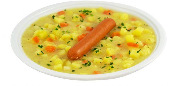 1330 Kartoffelsuppe mit Wiener Würstchen
