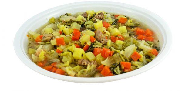 2394 Wirsingkohleintopf mit Kartoffel- und Rindfleischeinlage