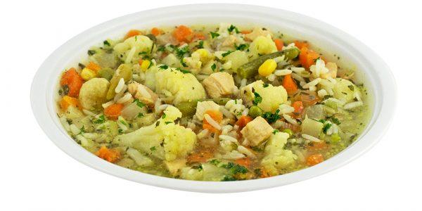 2694 Reissuppe mit Gemüse- und Hühnerfleischeinlage