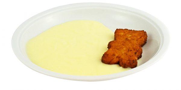2737 Quarkkeulchen und Sauce mit Vanille-Geschmack