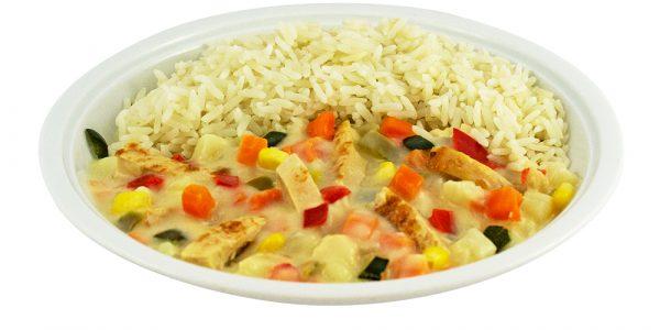2966 Gemüse-Hähnchenpfanne mit Reis