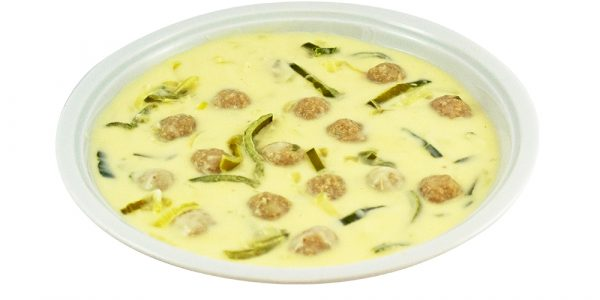 3135 Lauch-Käsecremesuppe mit Fleischklößchen