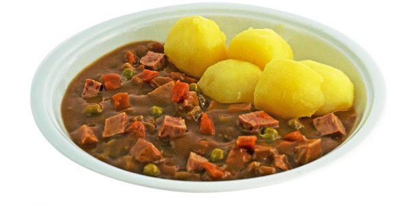 3283 Geflügel-Wurstgulasch mit Gemüseeinlage und Kartoffeln