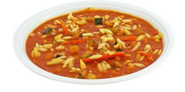 3350 Tomatencremesuppe mit Gemüseeinlage und Nudelreis