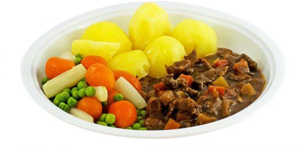 3351 Rindergeschnetzeltes mit Leipziger Allerlei und Kartoffeln
