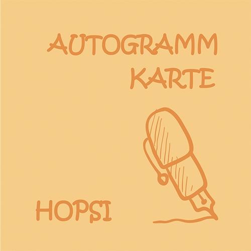 Autogrammkarte Hopsi