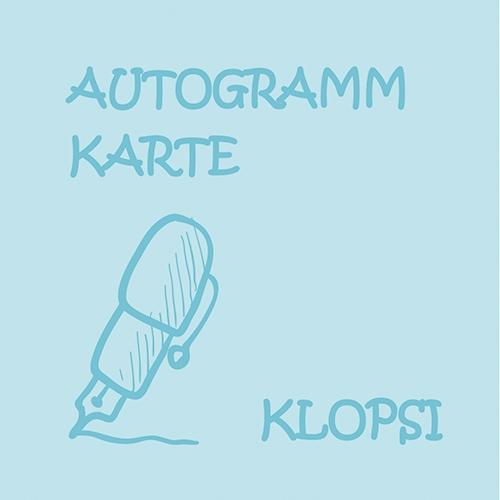 Autogrammkarte Klopsi