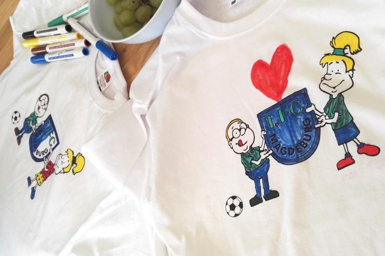 T Shirts Bemalen Im Kidsclub Alexmenü Gmbh Co Kg