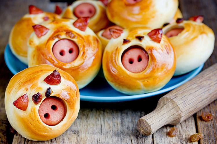 Pikante Glücksschweine