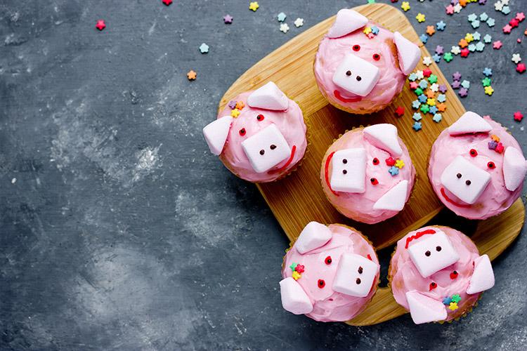 Süße Glücksschweine
