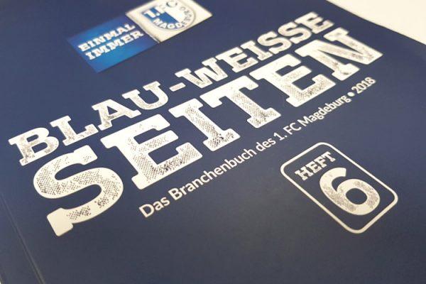 In der 6. Ausgabe vom Branchenbuch des 1. FCM werden über 400 Unterstützer des Vereins vorgestellt. ©M.Kunz/ALEXMENÜ