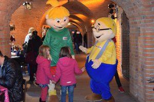 Viele Kinder freuen sich Hopsi und Klopsi endlich mal live kennenzulernen!