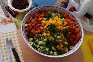 Der bunte Ampelsalat lädt zum Vernaschen ein