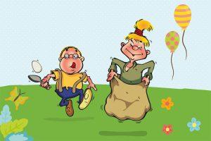Hopsi und Klopsi lieben die vielen Überraschungen am Kindertag.