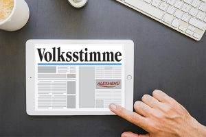 Beitrag Volksstimme über ALEXMENÜ