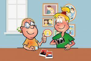 Hopsi und Klopsi kennen sich mit dem Fotografieren schon gut aus.