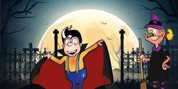 Buuuuuhuuuu - seid ihr auch so große Fans von Halloween wie Hopsi und Klopsi?