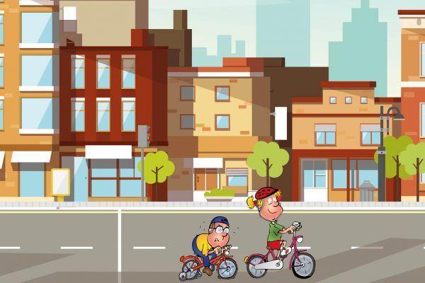 Hopsi, Klopsi und die anderen Kinder aus dem Kindergarten zeigen, was sie alles über den Straßenverkehr wissen.