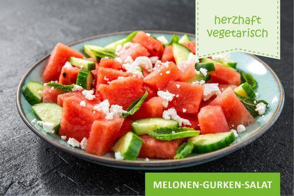 Melonen-Gurken-Salat ©freepik