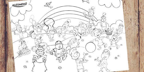 Ausmalbild Kindertag