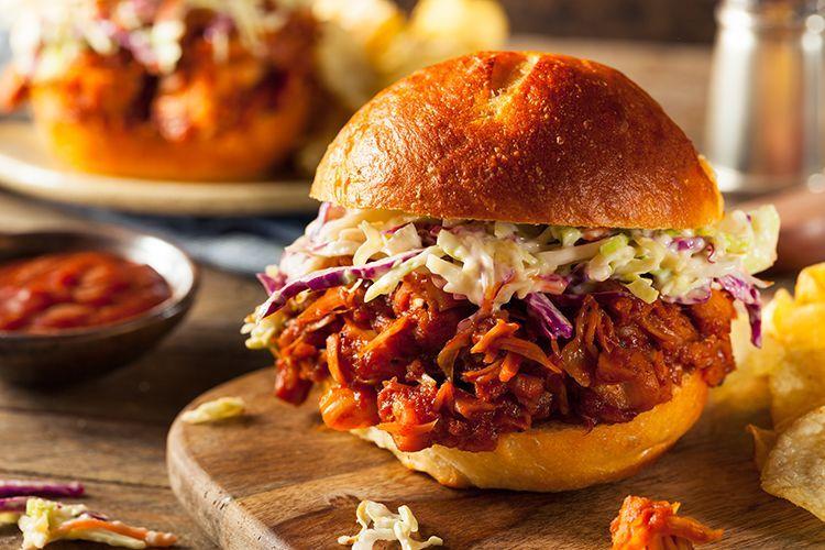 Vegane Pulled Jackfrucht Burger
