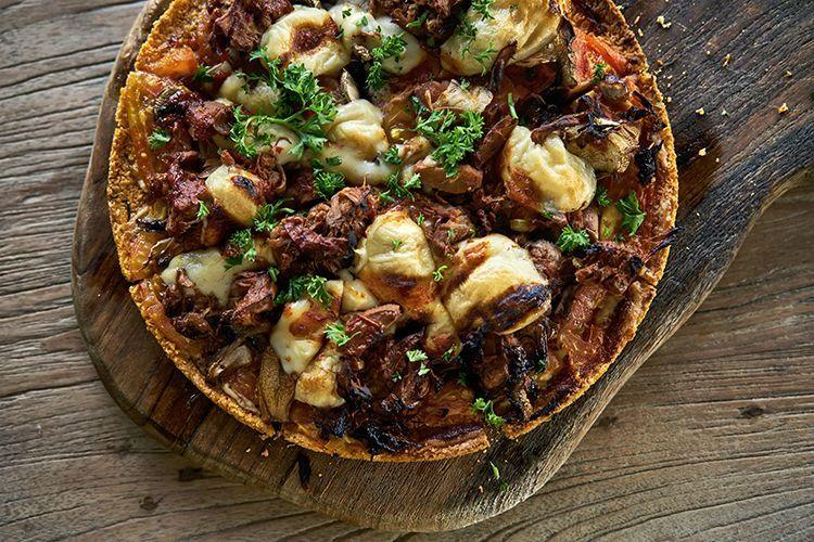Vegane BBQ Jackfrucht Pizza