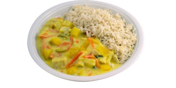 3349 Hühnercurry mit Mango-Currysauce und Gemüse dazu Reis