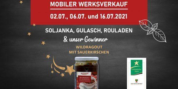 Mobiler Werksverkauf Termin im Juli