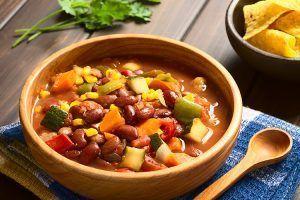 Chilli sin carne Suppe