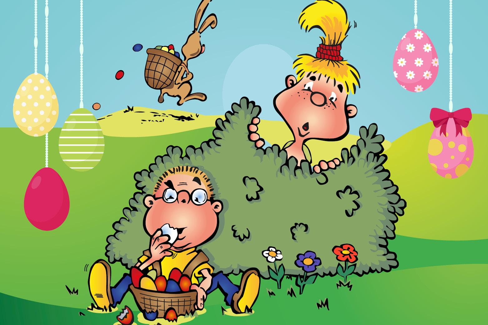 Hopsi und Klopsi lieben die Überraschungen zum Osterfest.
